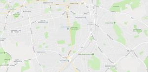 croydon area map for dog walking service