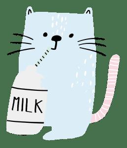 cat drinking milk icon