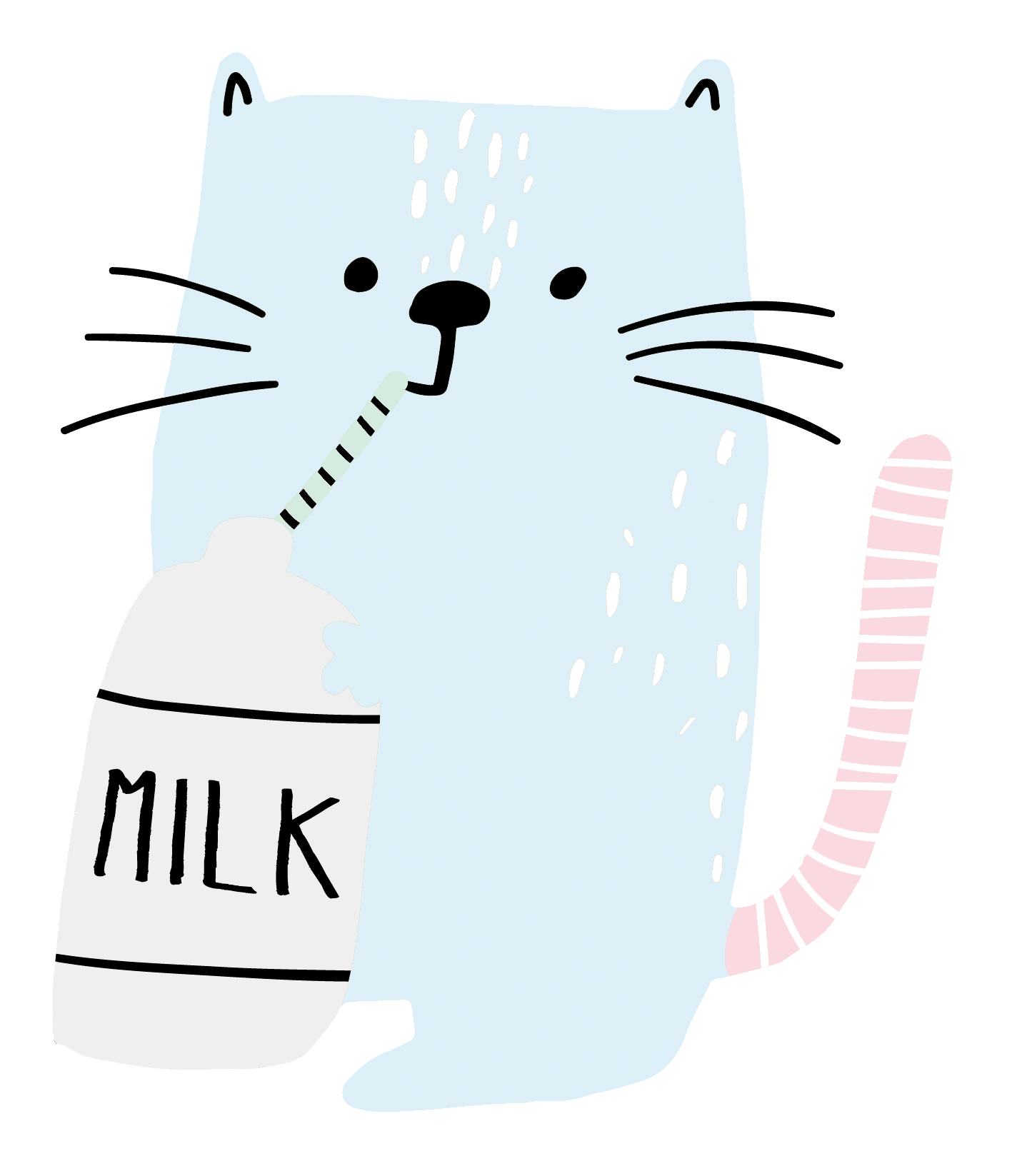 cat drinking milk icon