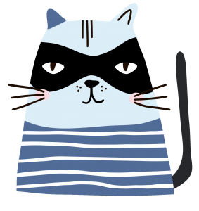 cat in mask icon